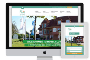 Webpage of Hotel Flora