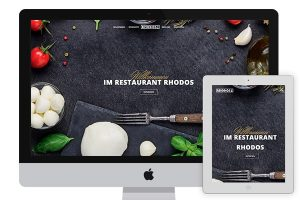 Restaurant Rhodos website
