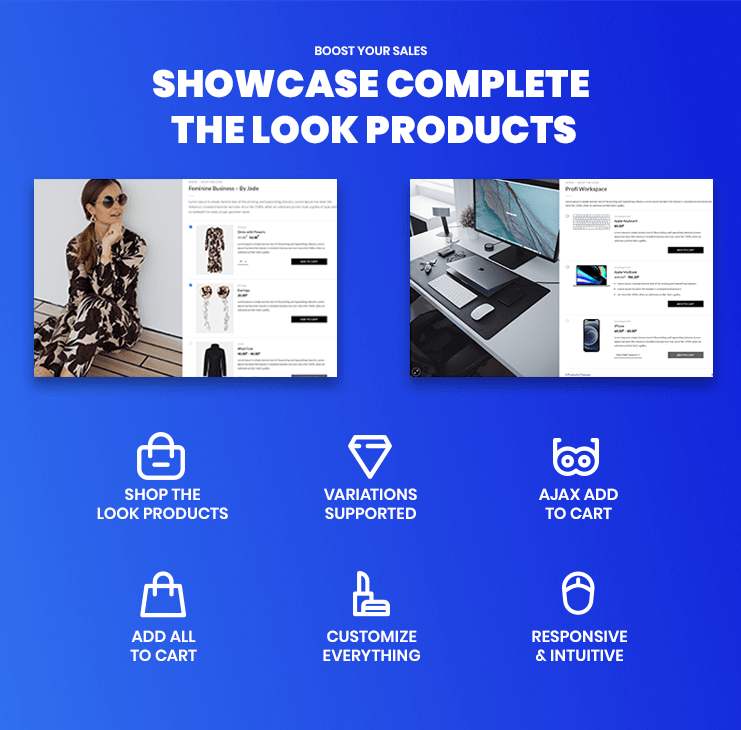 WooCommerce Complete the Look features